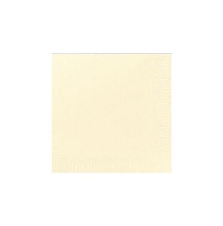 Servett 33x33 3-lag,vanil125/f