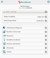Screenshot of Banca Marche
