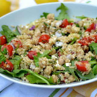 Mediterranean Quinoa Salad with Lemon Pepper Vinaigrette