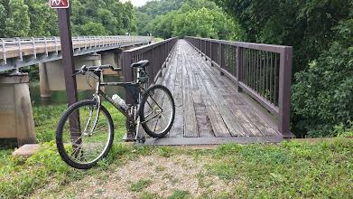 Photo: Footbridge over the Jacks Fork.