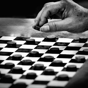 Life is game by Vijay Tripathi - People Body Parts ( checkerboard, life, patterns, pattern, hands, black and white, lifestyle, chess )