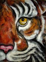 Photo: 209, Нетронина Наталья, Тигр, Шерстяные, акриловые, вискозные волокна(сухое валяние шерсти), 40х30см,