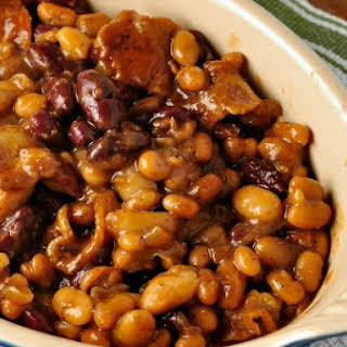 Clays Famous Three Bean Casserole.