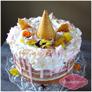 Brown Sugar Cake with Cheesecake Filling