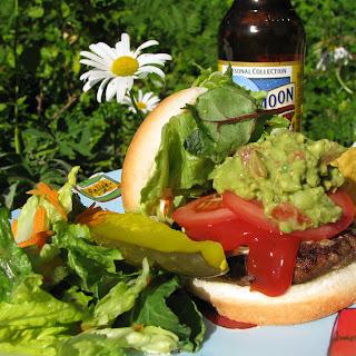 Roasted Jalapeno Guacamole Burgers