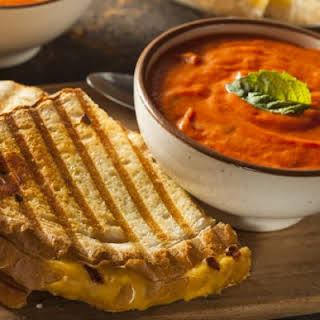 Gooey Grilled Four Cheese Sandwiches.