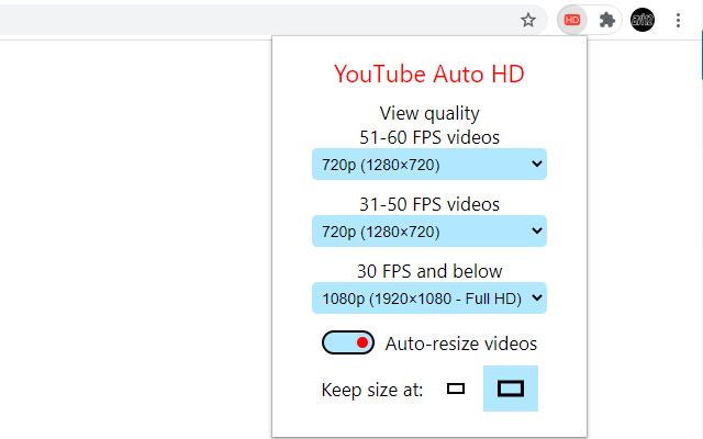 YouTube Auto HD + FPS