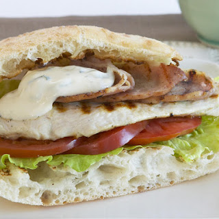 Grilled Chicken Sanwich with Lime and Cilantro Mayo.