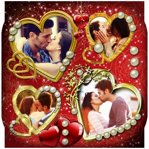 love collage locket card status photo frame apps on google