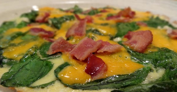 Add the bacon, and serve immediately. Here is how it looks!  Enjoy!