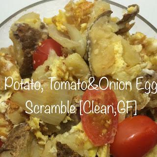 Potato, Tomato and Onion Egg Scramble [Clean, GF] Recipe