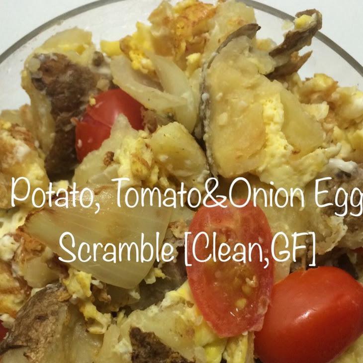 Potato, Tomato and Onion Egg Scramble [Clean, GF]