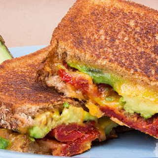 Sun-Dried Tomato and Avocado Grilled Cheese.