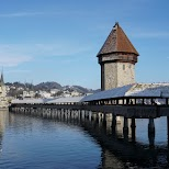 Chapel Bridge of Lucerne in Lucerne, Lucerne, Switzerland