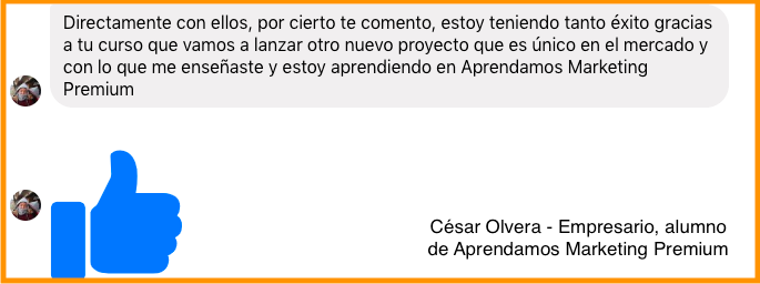 Testimoniales de Aprendamos Marketing Premium