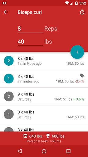 Redy Gym Log, Exercise Tracker screenshot 1