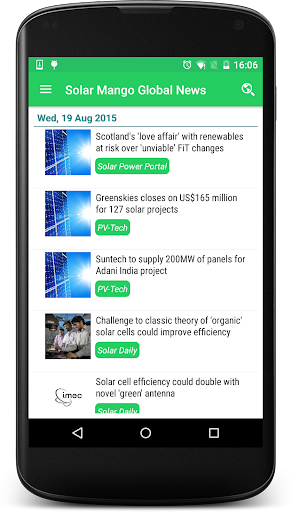 Solar Mango Global News