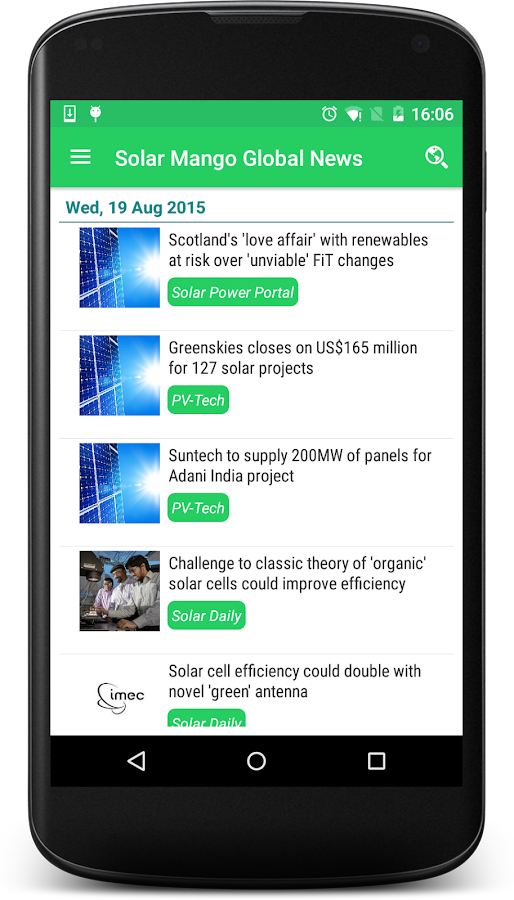 Solar Mango Global News- screenshot