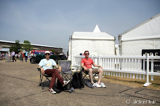 Photo: Our spot on the second day
