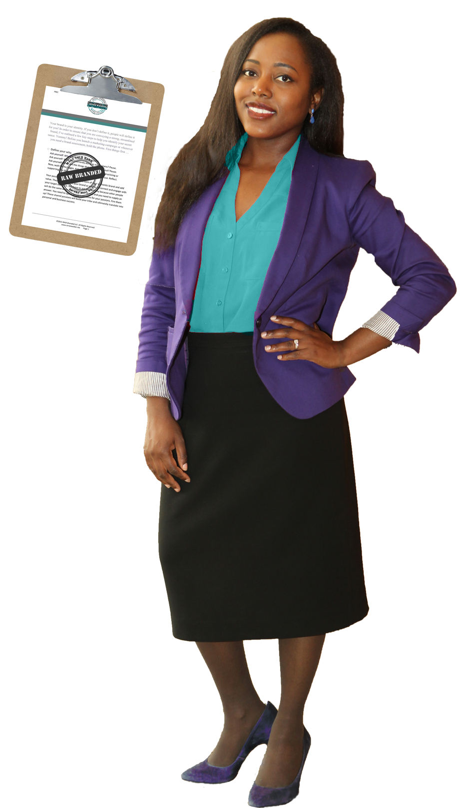 Renee A. Walker standing with checklist