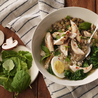Chicken Lentil Broth Bowl.
