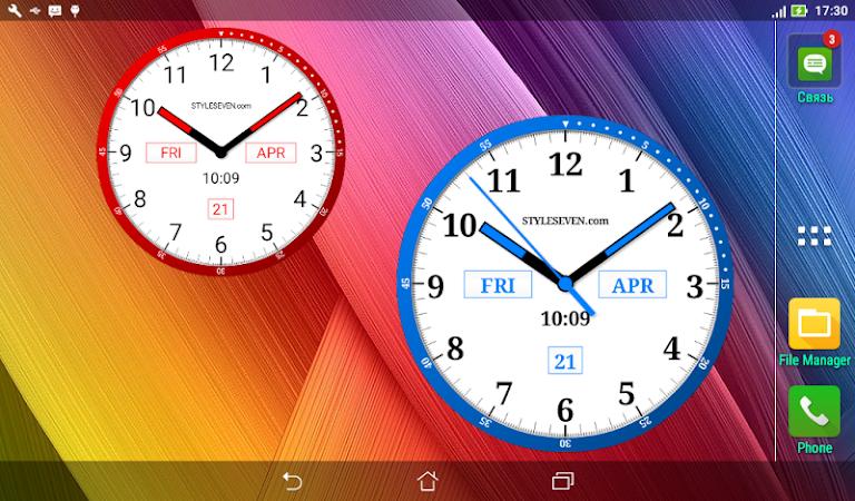 Color Analog Clock-7 v2.13