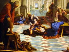 Photo: #003-Le lavement des pieds par Tintoret-Musée du Prado