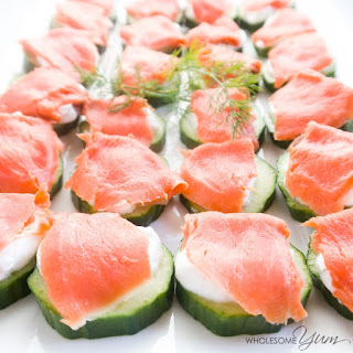Smoked Salmon Cucumber Bites (Low Carb, Gluten-free)