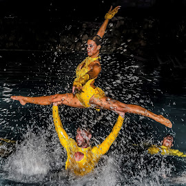 Water Ballet. by Andrzej Bajer - Sports & Fitness Watersports ( water, waterscape, water ballet, cuba )