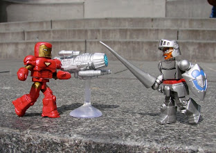 Photo: Iron Man and Arthur from Ghouls'n Ghosts