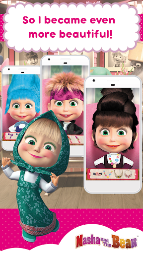 Masha and the Bear: Hair Salon and MakeUp Games  screenshots EasyGameCheats.pro 2