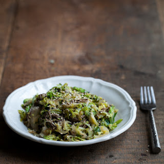 Brussels Sprouts and Soba Noodles with Ginger-Honey Sauce