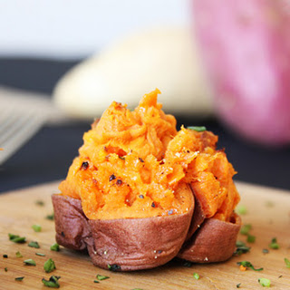 Double Baked Sweet Potato