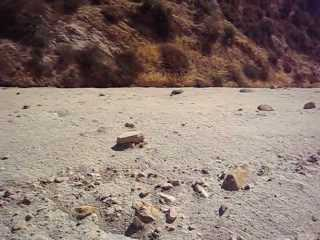Video: Climbing up the side of the rocks, trying to find another way up, but with no luck