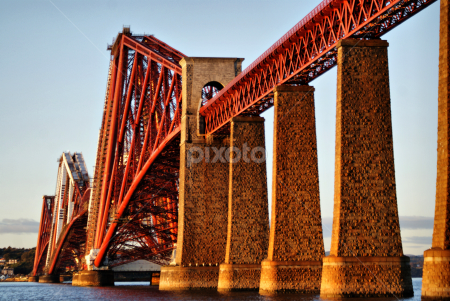 The Forth Railway Bridge by Sandra Cockayne - Buildings & Architecture Bridges & Suspended Structures ( forth railway bridge, scotland, edinburgh, suspension bridge, waterscape, queensferry, sandra cockayne, forth bridge, bridge, landscape, pwcbridges,  )