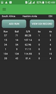 CricKhata - Cricket Score and Statistics Diary - náhled