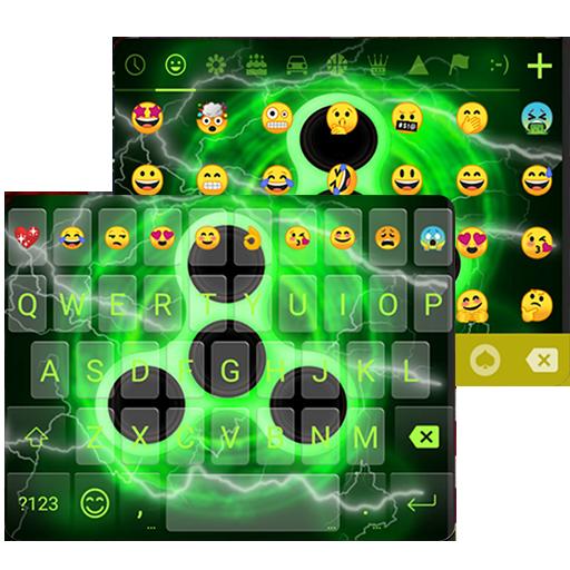 Fidget Spinner Neon Keyboard Theme