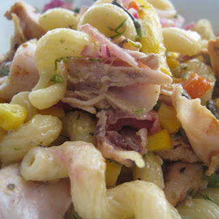 Chicken Pasta Salad with Honey, Mustard and Dill