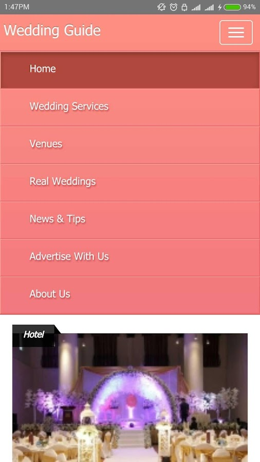 Wedding Guide- screenshot