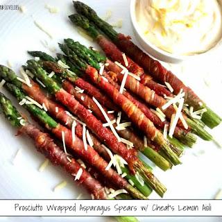 Prosciutto Wrapped Asparagus Spears w/ Cheat's Lemon Aioli