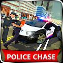 US Police Car Chase Cop Robot Transform Simulator icon