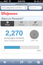 Photo: After adding my weight and goals I was instantly awarded 70 points. YAY!