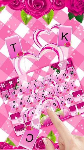 Pink Roses Keyboard Theme 1.0 screenshots 2