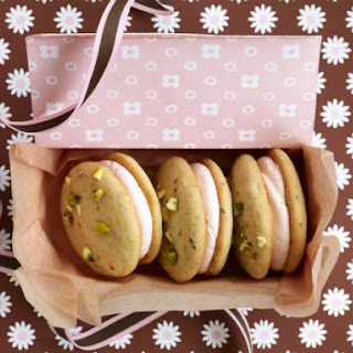 Pistachio-Cardamom Whoopie Pies with Rosewater Buttercream.