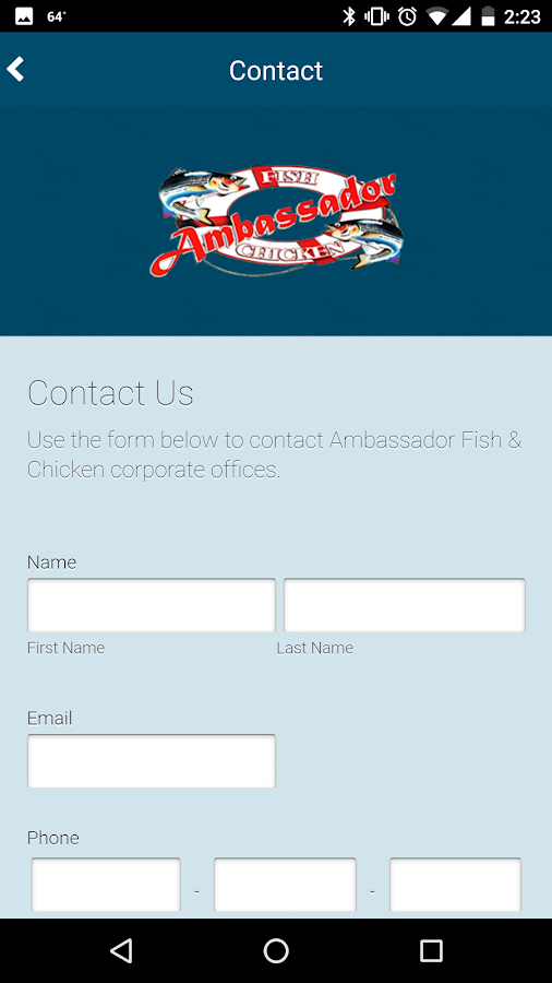 Ambassador Fish & Chicken- screenshot