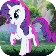 Super Adventure of Little White Horse Pony
