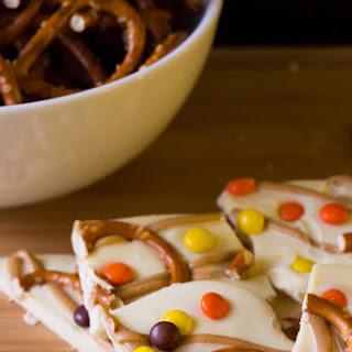 Halloween Peanut Butter Pretzel Bark