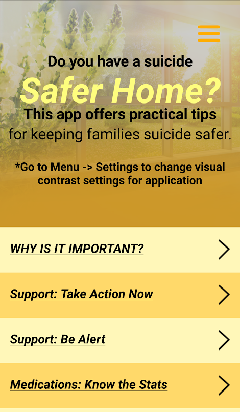 Suicide Safer Home- screenshot