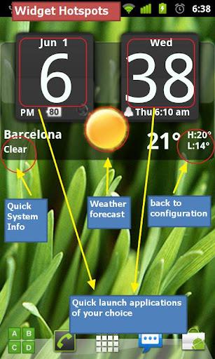 Flip Clock xTheme Widget 4x2 screenshot 5