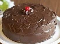 Judy's Best 1970s Choco-cherry Cake